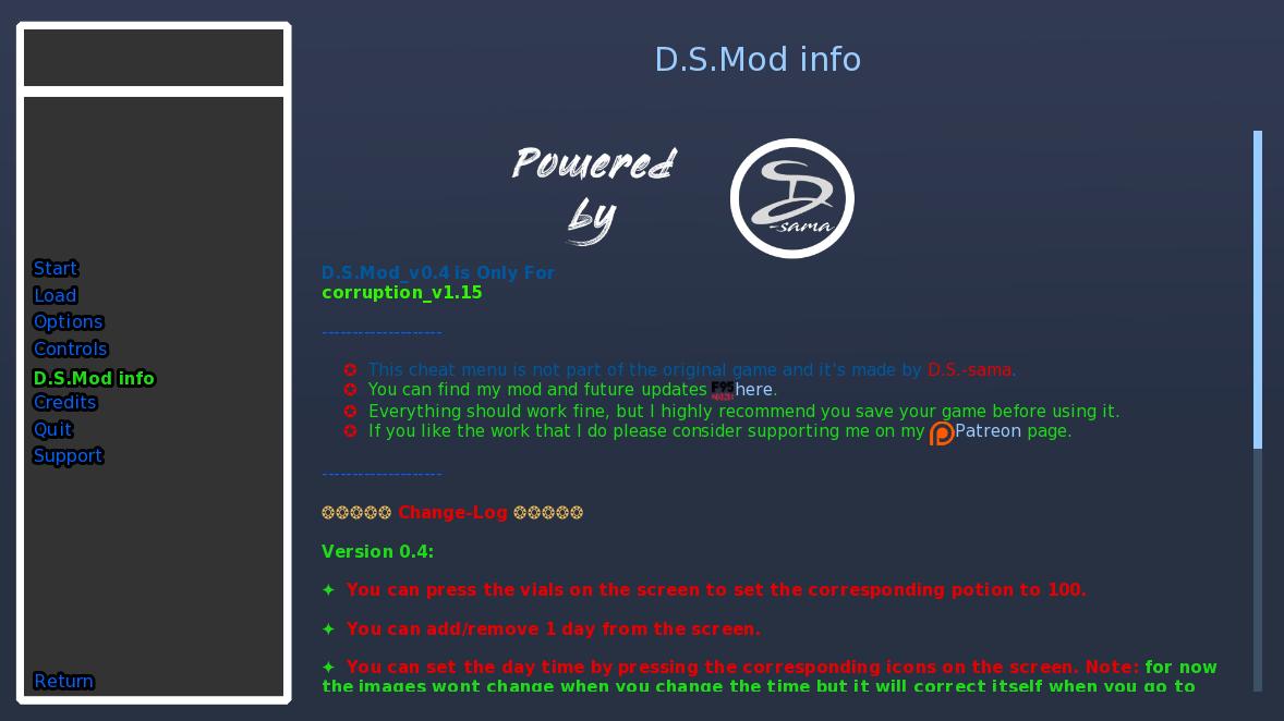 Mod] - [Cheat Mod] - [Ren'Py] Corruption v1 50 [Cheat Mod + Other