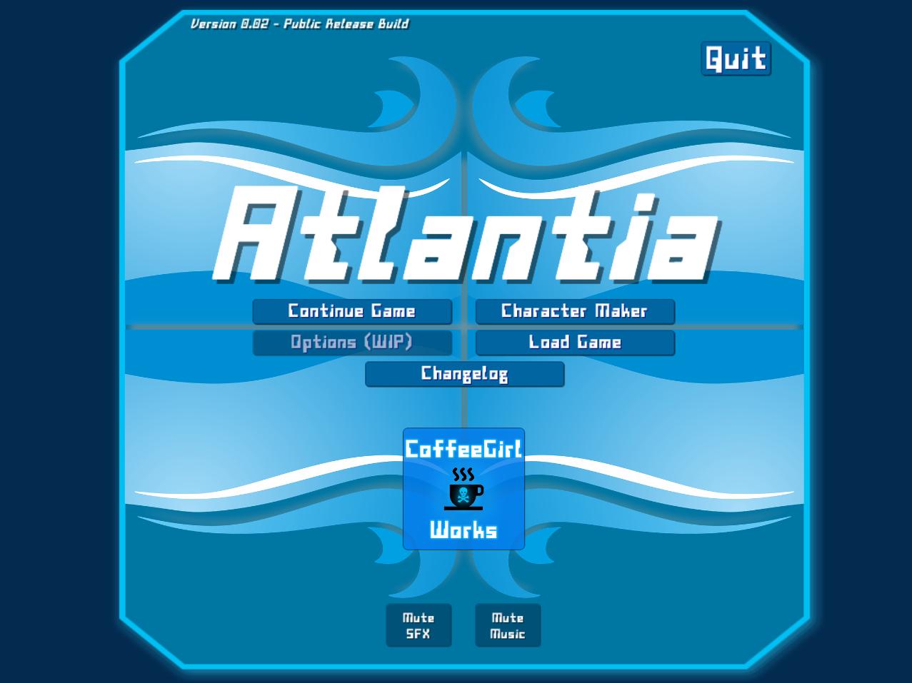 Atlantia - Menu
