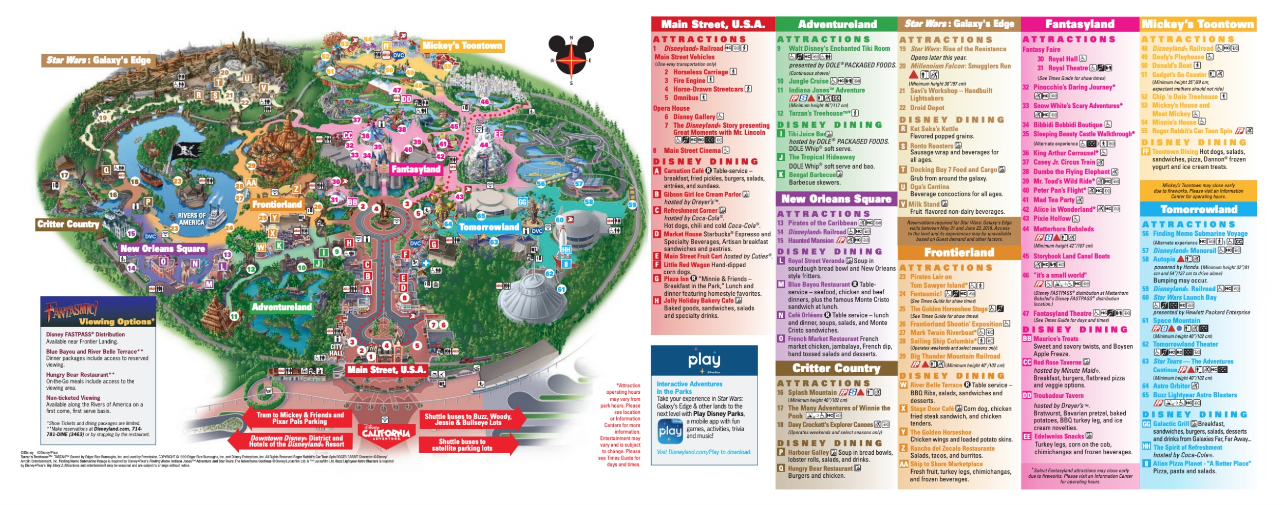This is a picture of Bright Printable Disneyland Maps