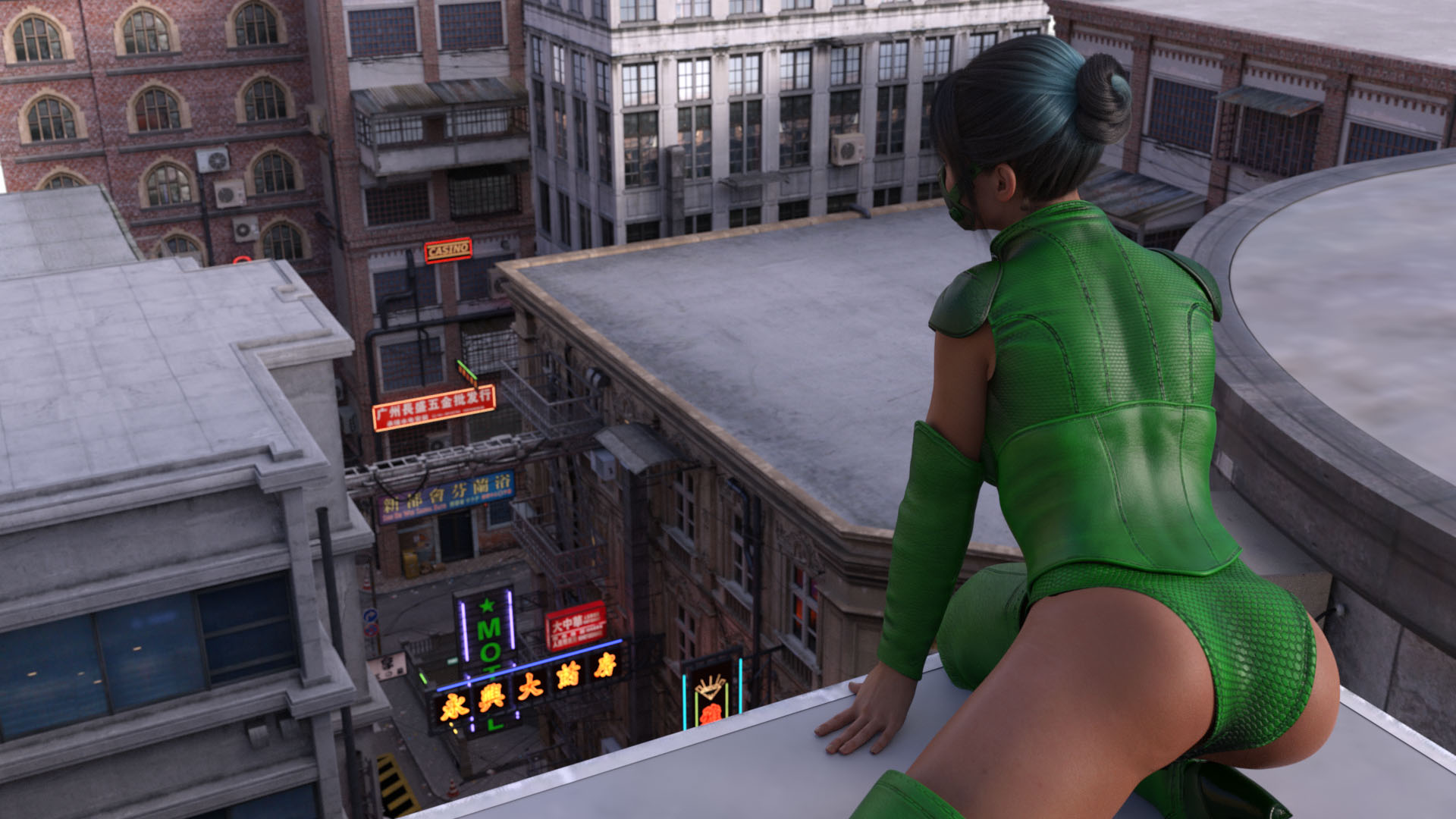 Rpgm Completed Masked Superheroine The Green Shadow Rachel Combin Ation F95zone